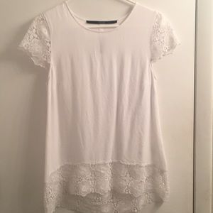 Adorable lace detail top